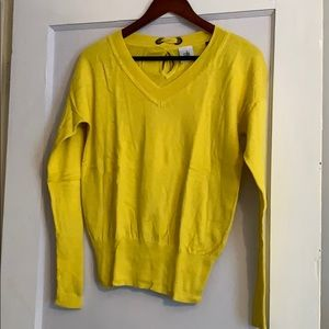 CAbi Canary V-neck sweater